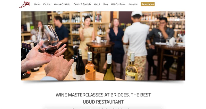 Bridges Bali Wine Classes
