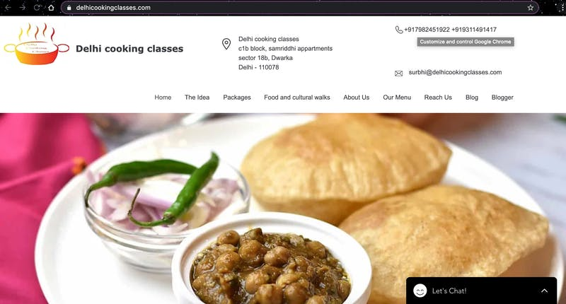 Delhi Cooking Classes
