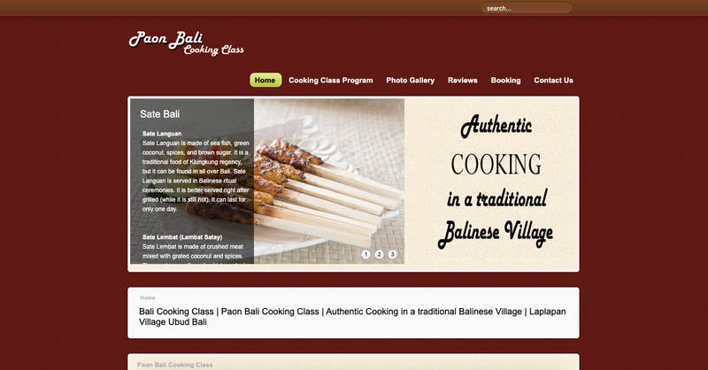The Paon Bali Cooking School