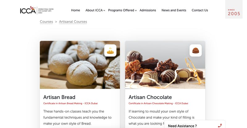 Classes at the International Centre for Culinary Arts in Dubai