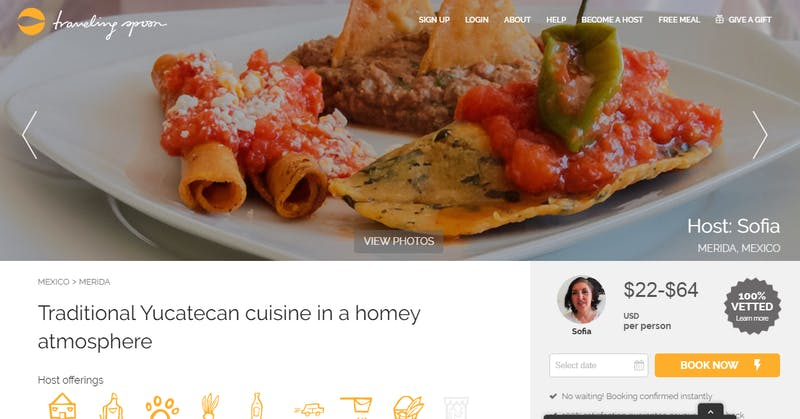 Traditional Yucatecan cuisine in a homey atmosphere