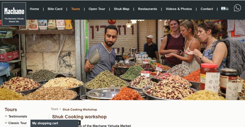 Cooking workshop of the Mahane Yehuda Market