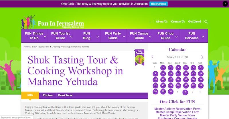Shuk Tasting Tour & Cooking Workshop in Mahane Yehuda