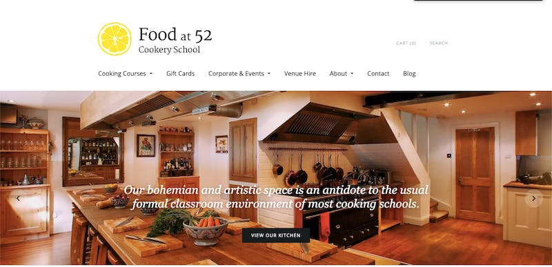 Food At 52 Cookery School