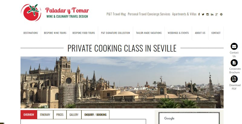 Paladar y Tomar: Private Cooking Class in Sevilla