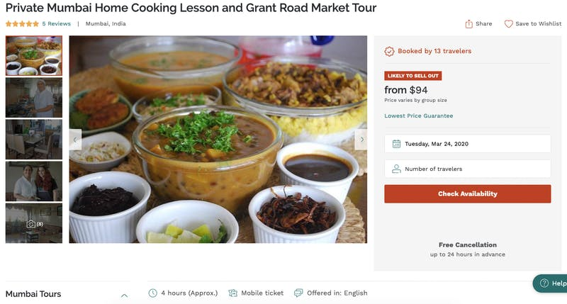Private Mumbai Home Cooking Lesson and Grant Road Market Tour