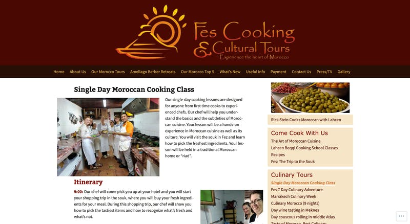 Single Day Moroccan Cooking Class