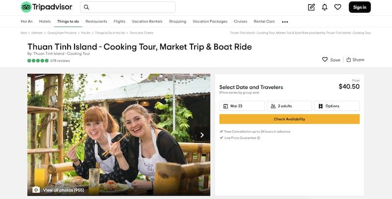 Thuan Tinh Island - Cooking Tour, Market Trip & Boat Ride
