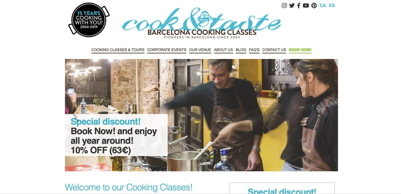 Barcelona Cooking Classes with Cook&Taste