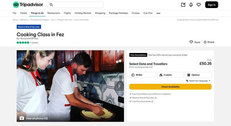 Cooking Class in Fez