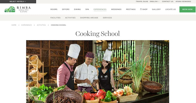 Scenography Cooking School at the Rimba
