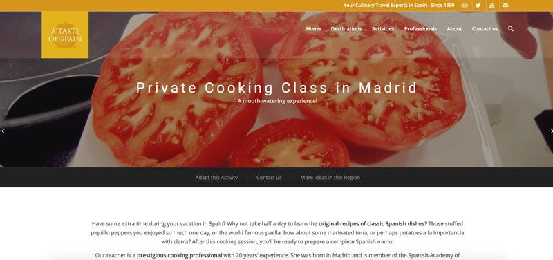 A Taste of Spain: Private Cooking Class in Madrid