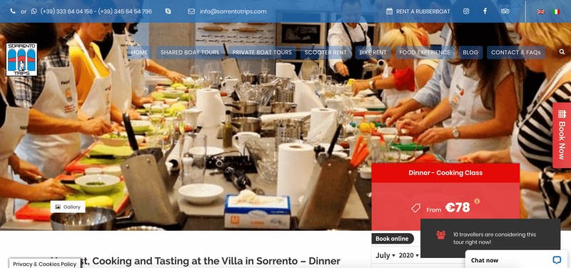 Harvest, Cooking, and Tasting at the Villa in Sorrento