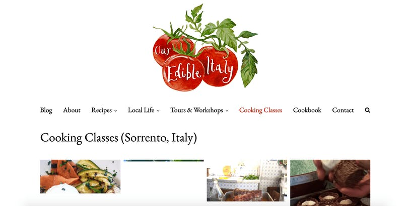 Our Edible Italy's Cooking Class
