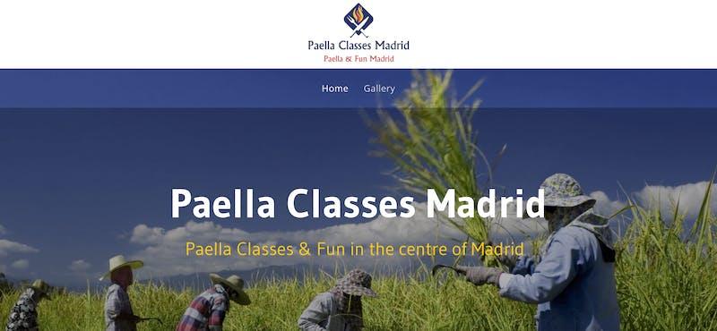 Paella Classes Madrid