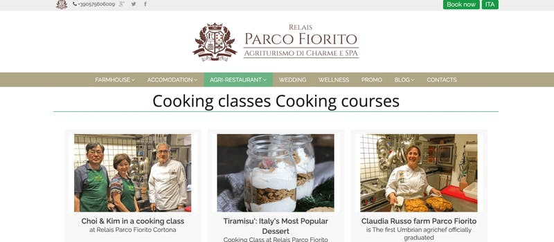 Relais Parco Fiorito, Cortona Cooking Class