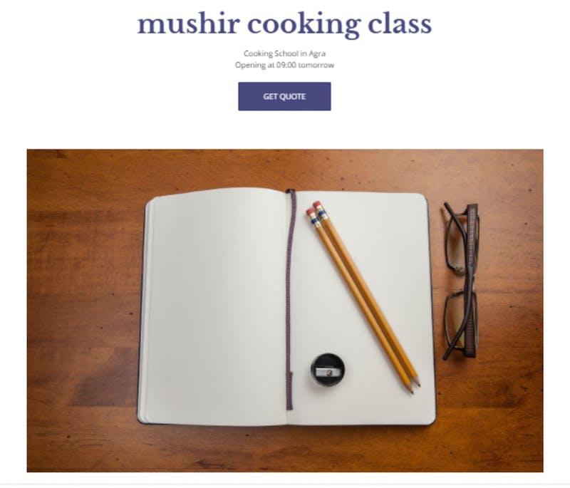Mushir Cooking Class