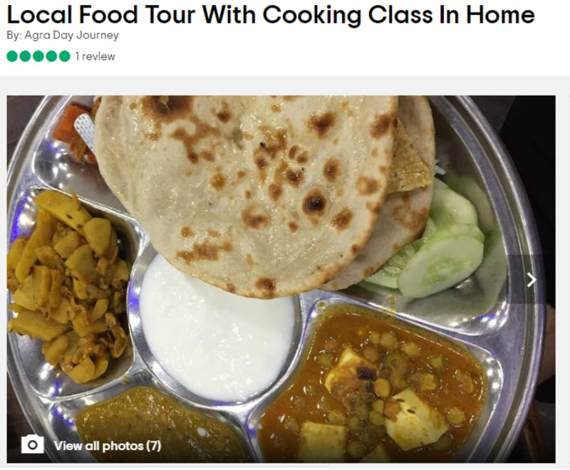 Food tour with in-home cooking class