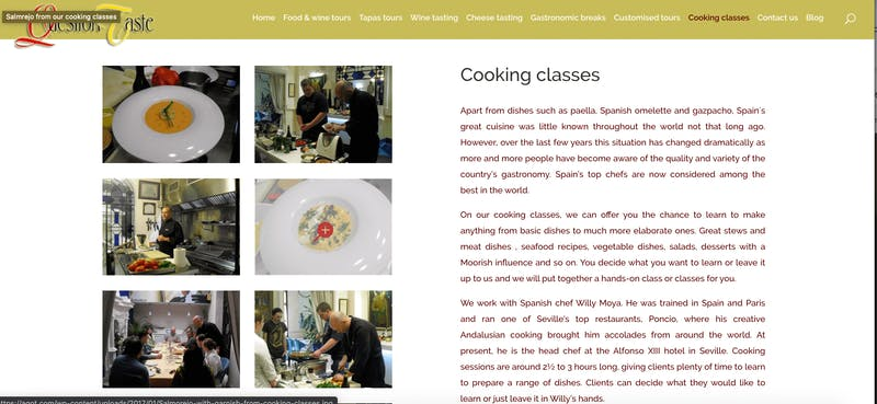 A Question of Taste Cooking Class