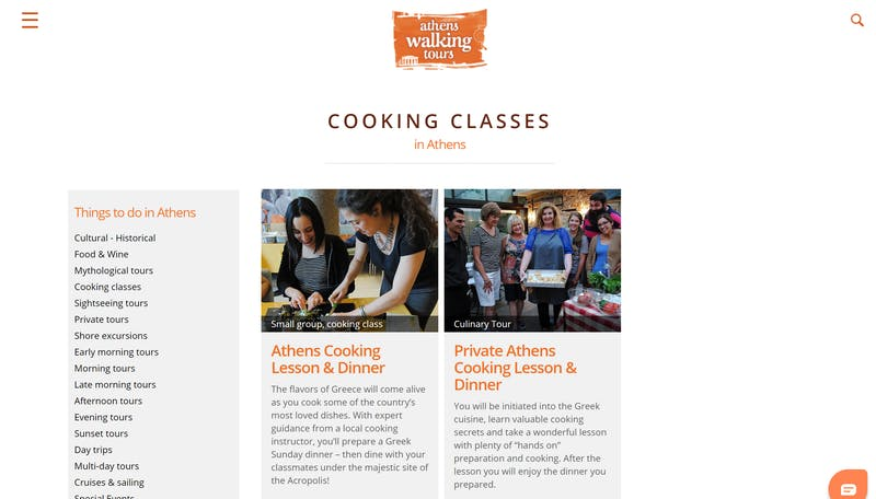Athens Cooking Lessons