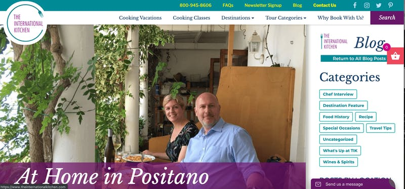 At Home in Positano Cooking Class