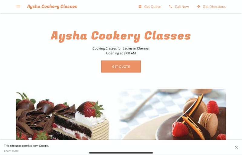Aysha Cookery Classes
