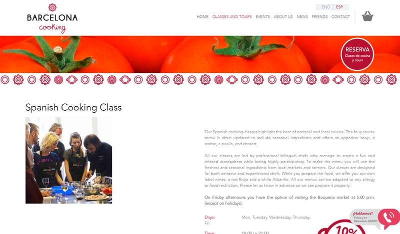 Barcelona Cooking Spanish Cooking Class