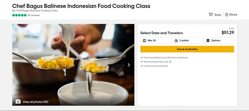 Chef Bagus Cooking Class