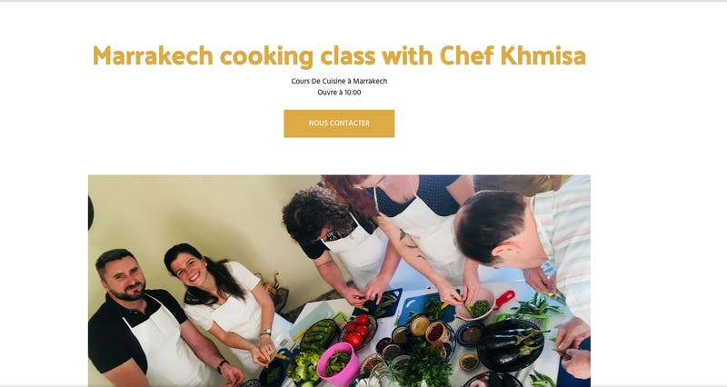Moroccan Cooking Class Marrakech with Chef Khmisa