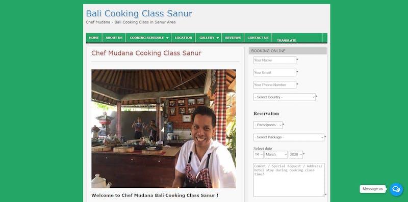 Chef Mudana Cooking Class Sanur