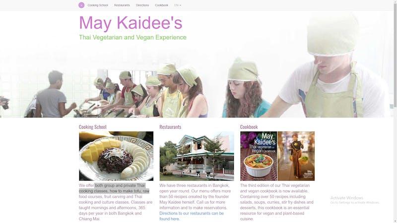 May Kaidee's Vegan Experience