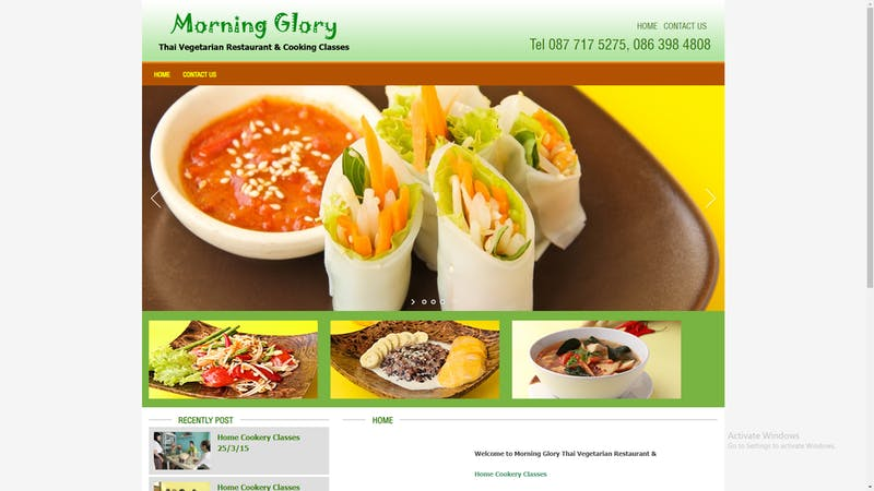 Morning Glory Thai Vegetarian Classes