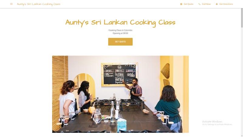 Aunty Sri Lankan Cooking Class