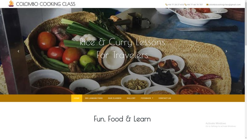 Colombo Cooking Class