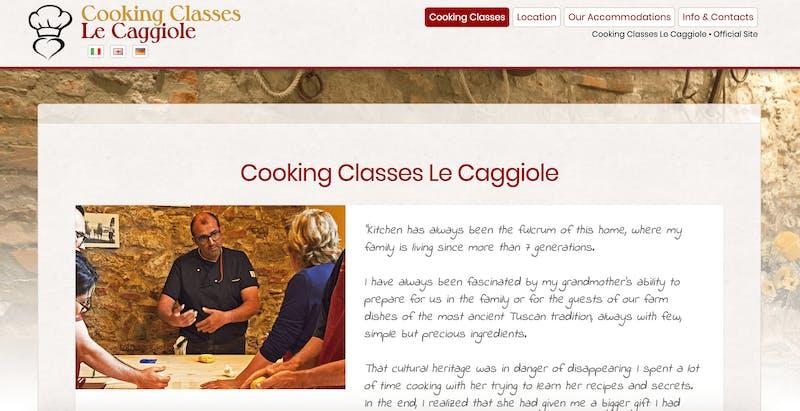 Cooking Classes Le Caggiole