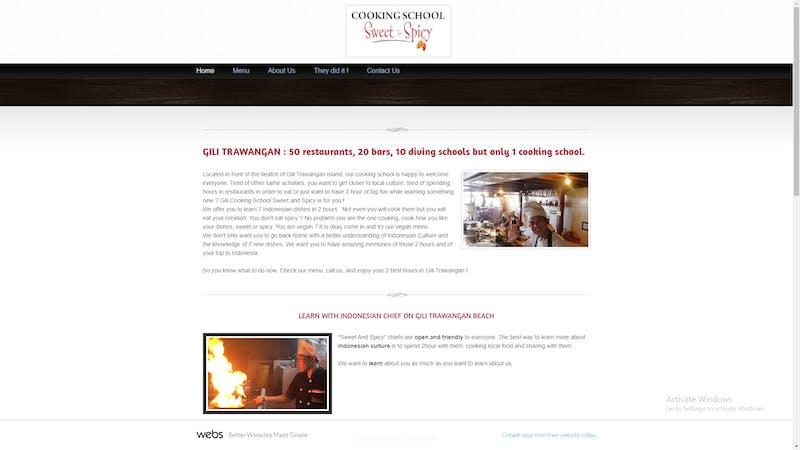Gili Cooking School – Sweet & Spicy