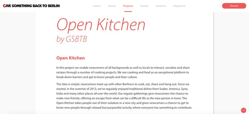 Give Something Back to Berlin's Open Kitchen
