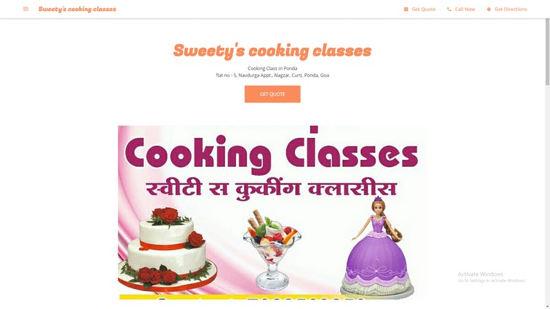 Sweety's Cooking Classes