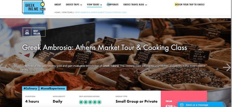Greek Ambrosia: Athens Market Tour & Cooking Class