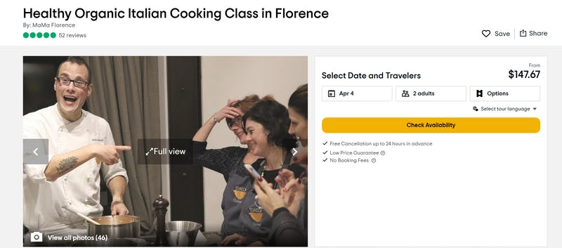 Healthy Organic Italian Cooking Class
