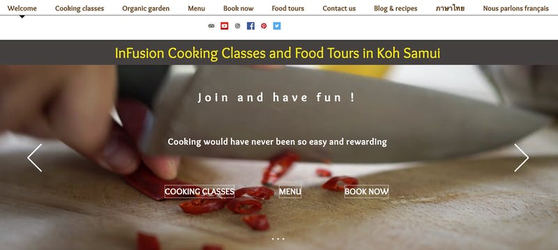 InFusion Cooking Classes