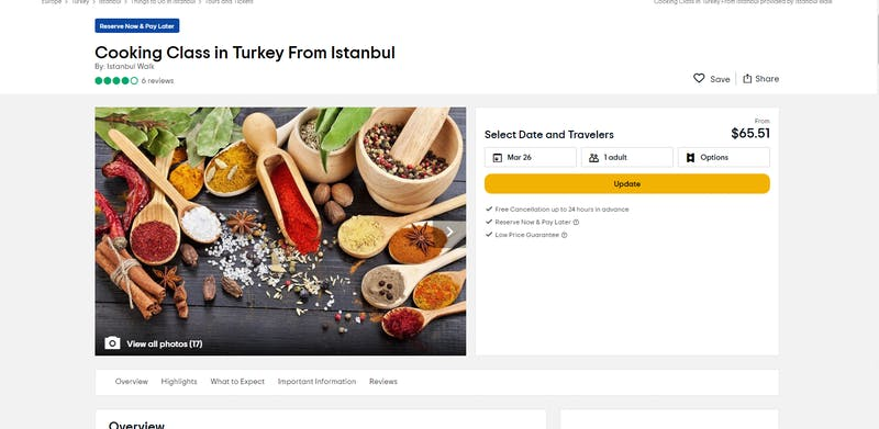 Cooking Class in Turkey from Istanbul by Istanbul Walk