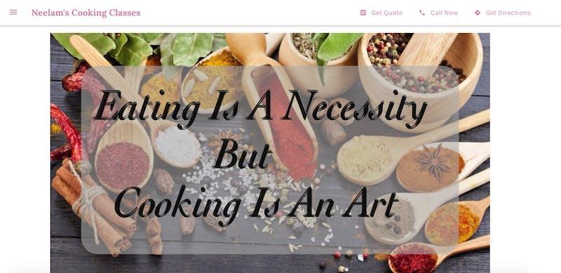 Neelam's Cooking Classes