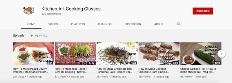 Kitchen Art Cooking Classes