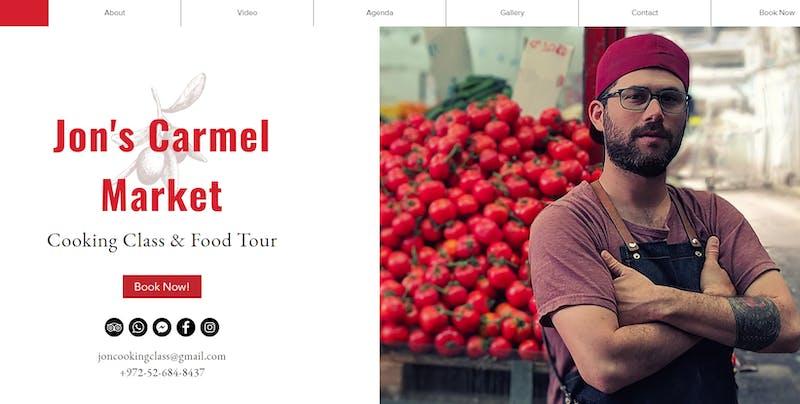 Jon's Carmel Market Tour and Cooking Class