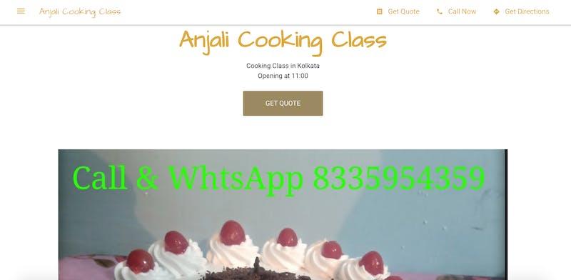 Anjali Cooking Class