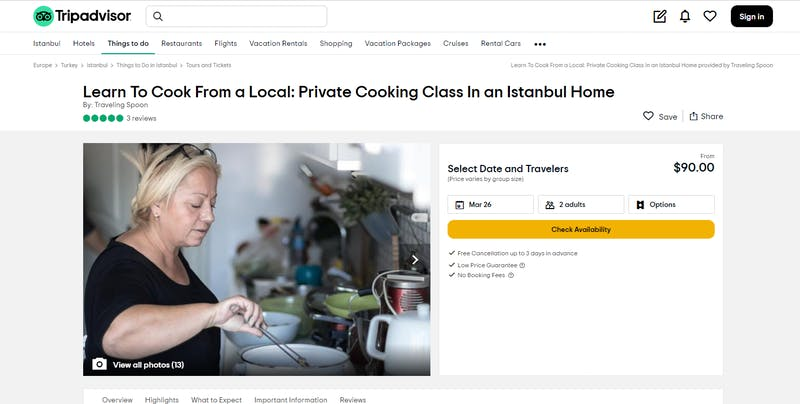 Learn to Cook from a Local: Private Cooking Class In an Istanbul Home