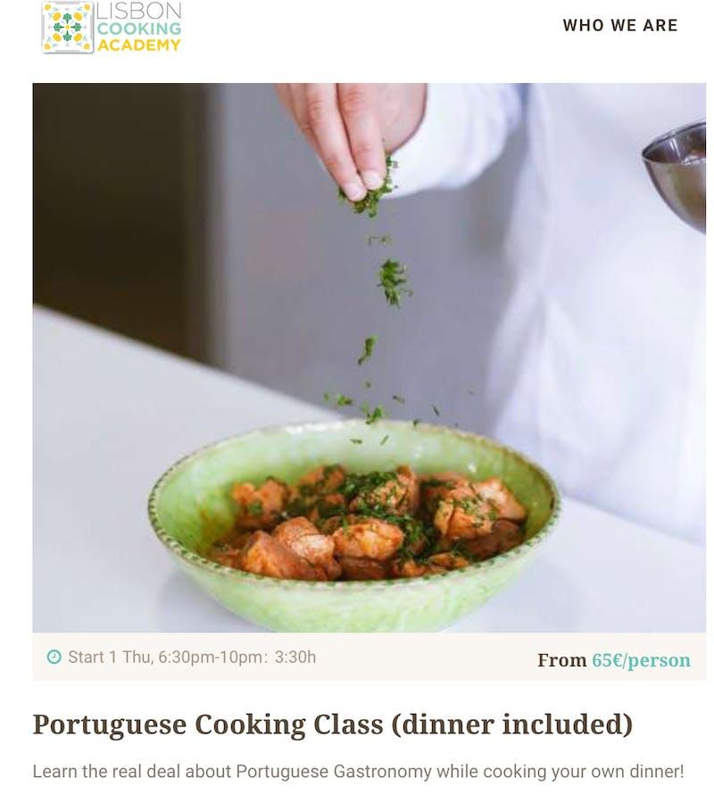 Lisbon Cooking Academy Class