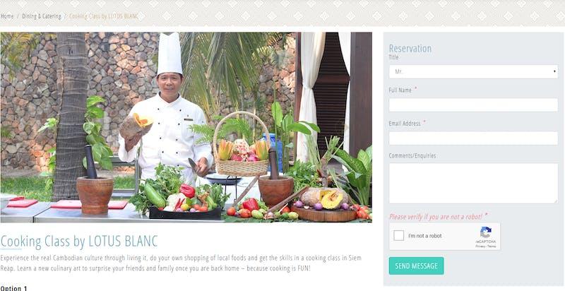 Lotus Blanc Hotel Cooking Class