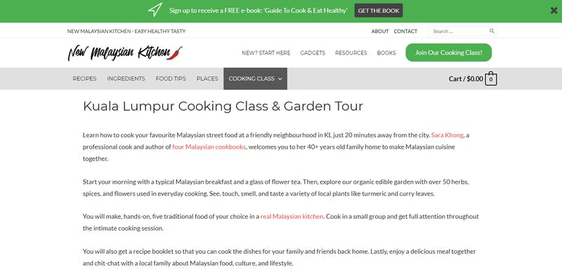 New Malaysian Kitchen Cooking Class